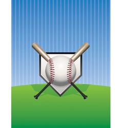 Baseball and Bats on Pinstripes vector image vector image