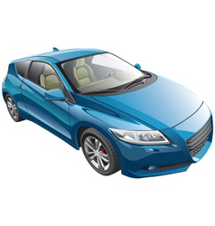 blue sport car vector image vector image