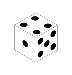 Dice icon isometric 3d style vector image vector image