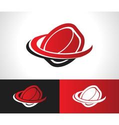 Hockey puck logo icon vector