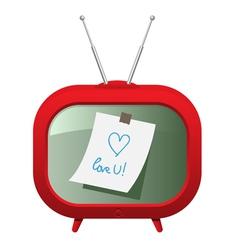 Red retro tv vector image