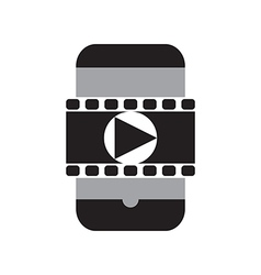 Smart phone movie vector image vector image