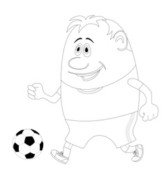 Soccer with ball contour vector image vector image