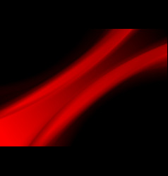 abstract red smooth blurred waves background vector image