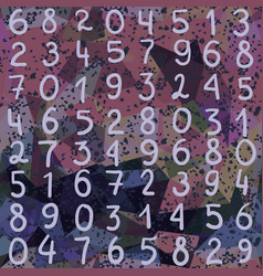 Abstract seamless pattern numbers and grunge vector