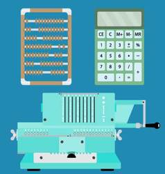 Collection of calculators vector image