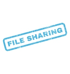 File Sharing Rubber Stamp vector image