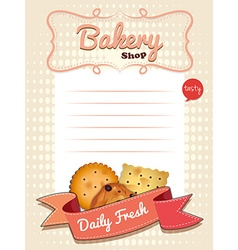 Line paper design with daily fresh cookies vector image