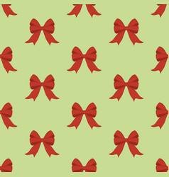 red bow seamless pattern vector image vector image