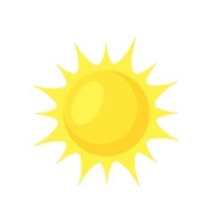 Sun shining vector image vector image