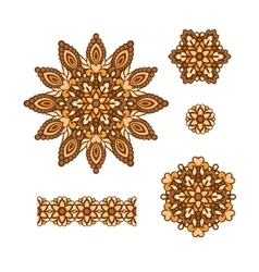 Abstract Flower Patterns Decorative ethnic vector image