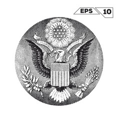 american eagle on one usa dollar bill vector image