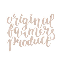 farmer s market label original farmers product vector image vector image
