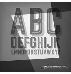 Old film noir styled alphabet vector image vector image