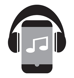 Smart phone music vector image vector image