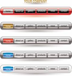 website button bars template vector image vector image