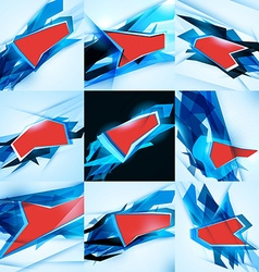 Abstract background set Abstract polygonal vector image