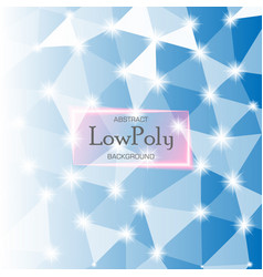 abstract low poly hexagonal background vector image