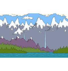 Alpine landscape vector