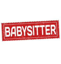 Babysitter grunge rubber stamp vector