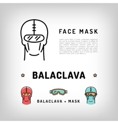 Balaclava isolated icon winter sport face vector