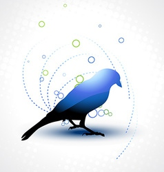 beautiful bird vector image