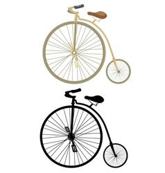 Big Wheel Bicycle vector image