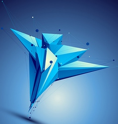 Blue contemporary technological asymmetric vector
