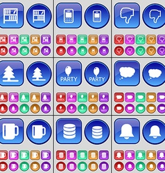 Bookshelf Mobile phone Dislike Firtree Party Chat vector