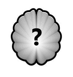 brain logo and question mark isolated human organ vector image