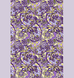 bright seamless pattern in purple colors vector image