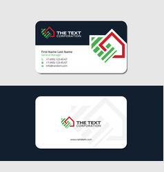 business card for real estate appraiser vector image