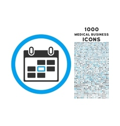 Calendar Day Rounded Icon with 1000 Bonus Icons vector