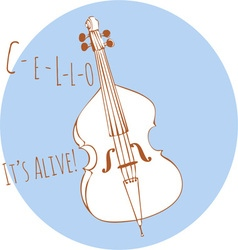 Cello Its Alive vector