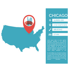 Chicago map infographic vector