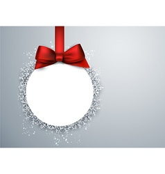 Christmas ball light background vector image