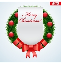 Christmas wreath greetings vector