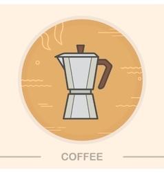 Coffee maker color icon vector