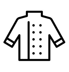 cooking chef shirt icon outline style vector image