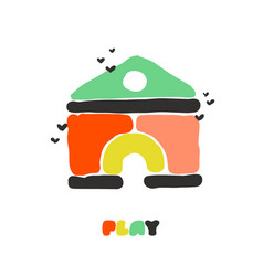 creative multicolored house construction set vector image