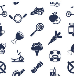 digital healthy activity lifestyle icons vector image