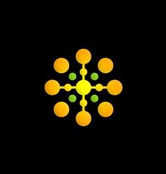 dot technology circle logo vector image
