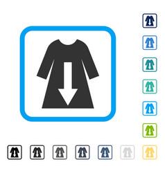 Download female dress framed icon vector