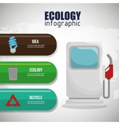 ecology infographic design graphic vector image