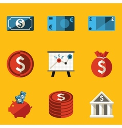 Flat icon set Money vector image