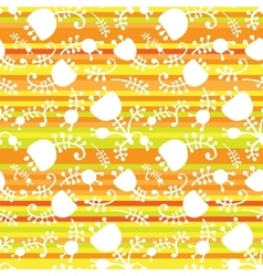 floral on color stripes seamless vector image