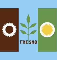 fresno flag vector image