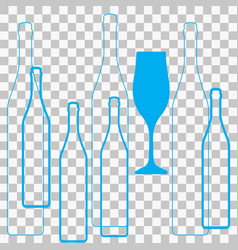 Glasses alcohol vector