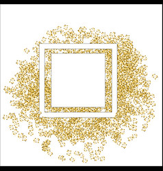 Golden splash or glittering spangles round frame vector