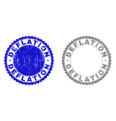 Grunge deflation textured watermarks vector